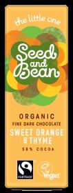 Organic Seed & Bean Dark Fairtrade & Organic orange and thyme 25g x30
