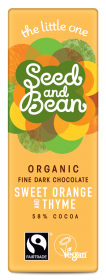 Organic Seed & Bean Dark Fairtrade & Organic orange and thyme 25g x30