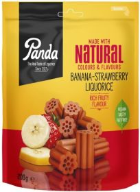 Panda Natural Banana Strawberry Liquorice 6x200g