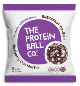 Protein Ball Co. Coffee Oat Muffin and Blueberry 45g x10
