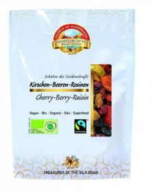 Pearls of Samarkand Fairtrade and Organic Very Cherry Berry Raisin 100g x7