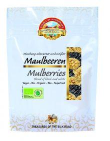 Pearls of Samarkand Organic Black & White Mulberries 100g x7