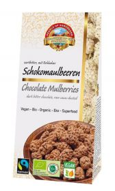 Pearls of Samarkand Fairtrade and Organic Raw Chocolate Mulberries Cocoa Dusted Gluten Free 80g x7