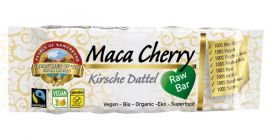 Pearls of Samarkand Fairtrade and Organic Raw Date Maca Cherry Bar  40g x12