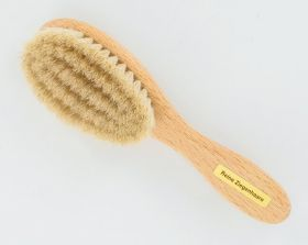 Forsters Hairbrush for babies, goat hair, beech wood