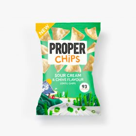 Properchips Sour Cream & Chives Lentil Chips 20g x24