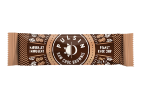Pulsin peanut choc chip raw choc brownie 18 x 35g