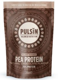 Pulsin natural chocolate flavour pea protein powder 6x250g