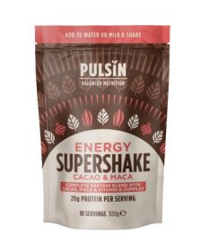 Pulsin energy cacao & maca super shake 6x300g