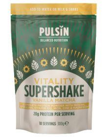 Pulsin 'Vitality' Vanilla Matcha Supershake 6x300g