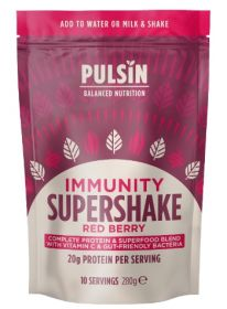 Pulsin Immunity red berry supershake 6x280g