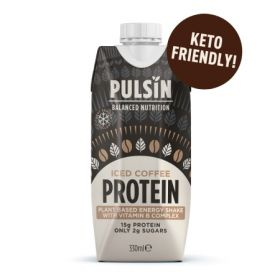 Pulsin Iced Coffee Plant Based Energy Shake 12x330ml