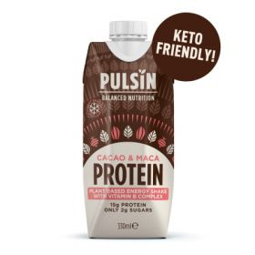 Pulsin Cacao & Maca Plant Energy Shake 12x330ml