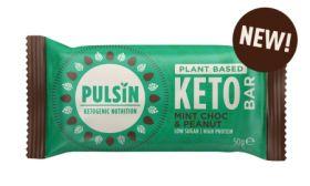 Pulsin Choc Mint & Peanut Keto Bar 18x50g