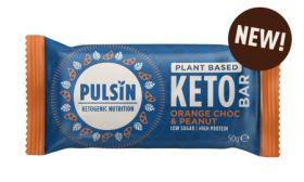 Pulsin Choc Orange & Peanut Keto Bar 18x50g
