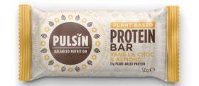 Pulsin vanilla choc & almond protein bar 18 x 50g