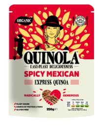 Quinola Organic Express Quinoa Spicy Mexican 250g x6