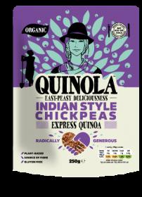 Quinola Organic Express Quinoa Indian Style Chickpeas 250g x6