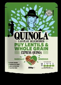 Quinola Express Wholegrain Quinoa & Puy Lentils 250g x6