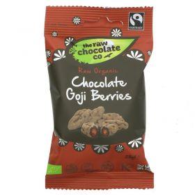 Raw Chocolate Goji Berries 12x28g Snack Packs