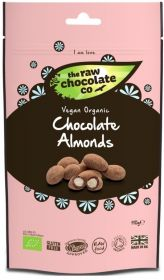Raw Chocolate Almonds 6x110g Pouches