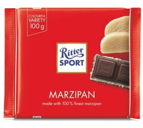 Ritter Sport Dark Chocolate with Marzipan filling 100g x12