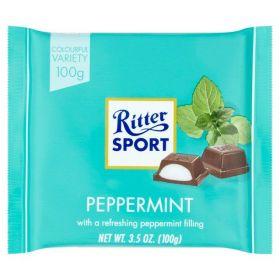 Ritter Sport Dark Chocolate with Peppermint 100g x12