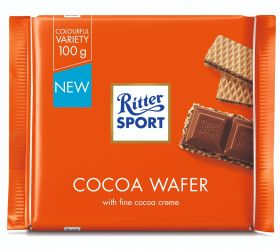 3 - Ritter SPORT Cocoa Wafer 100g x10