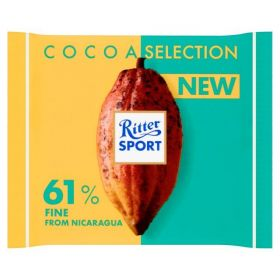 Ritter Sport 61% Cocoa Fine from Nicaragua 100g x12