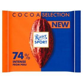 Ritter Sport 74% Cocoa Intense from Peru 100g x12