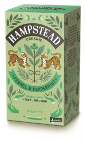 Hampstead Organic Fennel & Peppermint Herbal Infusion Tea (individually wrapped) 30g x4