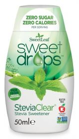 SweetLeaf SteviaClear Sweet Drops 50ml x12