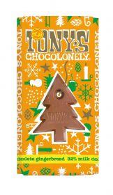 Tony's Chocolonely Gingerbread 32% Milk chocolate bar 180g x15
