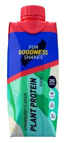 For Goodness Shake Plant Protein Strawberry 330ml x12
