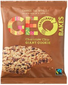 Traidcraft Geobakes Fair Trade Chocolate Chip Giant Cookies 75g x12