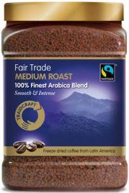 Traidcraft Fair Trade Instant Freeze Dried Medium Roast Coffee (Tub) 450g x6