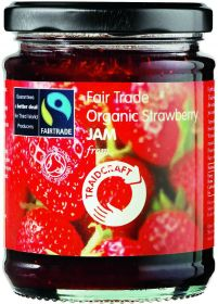 Traidcraft Fair Trade & Organic Strawberry Jam 340g x6