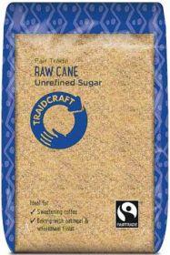 Traidcraft Fair Trade Raw Cane Sugar (Unrefined Cane) 500g x6