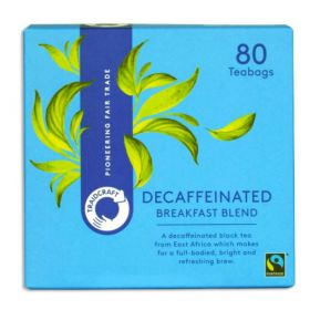 Traidcraft Fairtrade Breakfast Blend Decaffeinated Teabags 250gx6