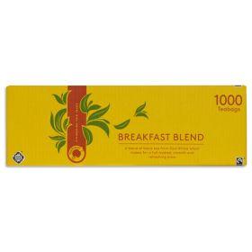 Traidcraft Fairtrade Breakfast Blend 1000 teabags x6