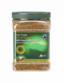 Traidcraft Fairtrade Freeze Dried Decaff Coffee 450g x6