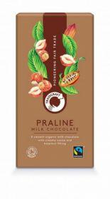 Traidcraft Fairtrade Organic Praline Milk Chocolate 100g x10