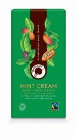 Traidcraft Fairtrade Organic Mint Cream Dark Chocolate 100g x10