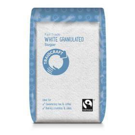 Traidcraft Fairtrade White Granulated Sugar 500g x6