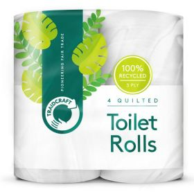 Traidcraft Fairtrade Recycled Toilet Tissue (4 rolls)
