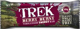 CLEARANCE - Trek Berry Burst Protein Energy Bar 55g x16 (BBE: 30/10/18)