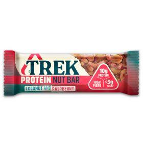 Trek Protein Nut Bar - Coconut & Raspberry Bar 40g x16
