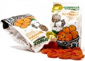 Tropical Wholefoods Fair Trade Sun Dried Apricot Slices 125g x14