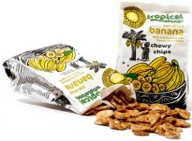 Tropical Fair Trade & Organic Sun Dried Banana Chewy Chips 150g x14
