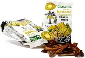 Tropical Fair Trade Sun Dried Banana Bogoya Slices 125g x14